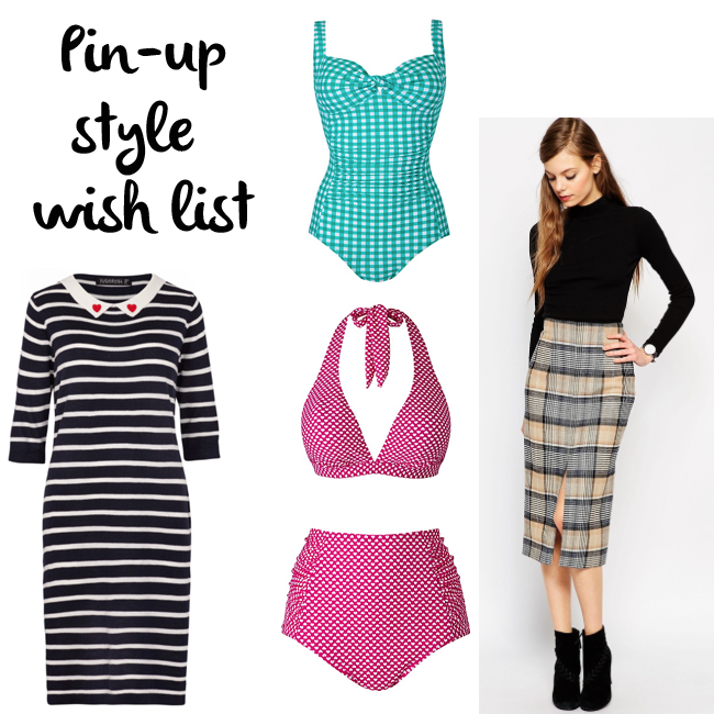 pin-up style wish list