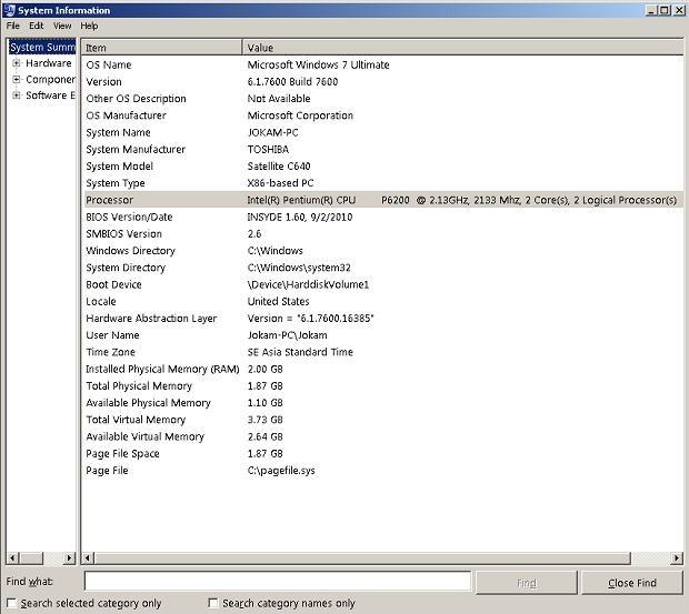 petunjuk mengetahui jenis prosessor windows lengka