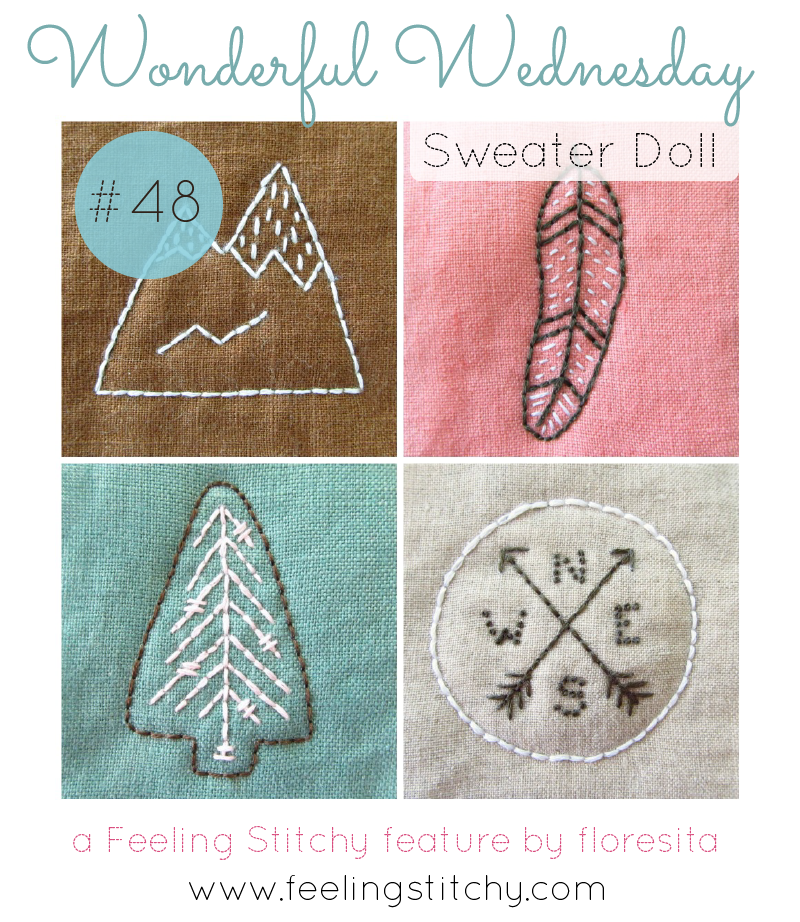 Wonderful Wednesday 48 - Sweater Doll a feature by floresita on Feeling Stitchy