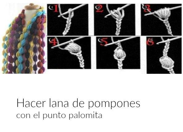 Tejer con Lana de Pompones. Tutorial