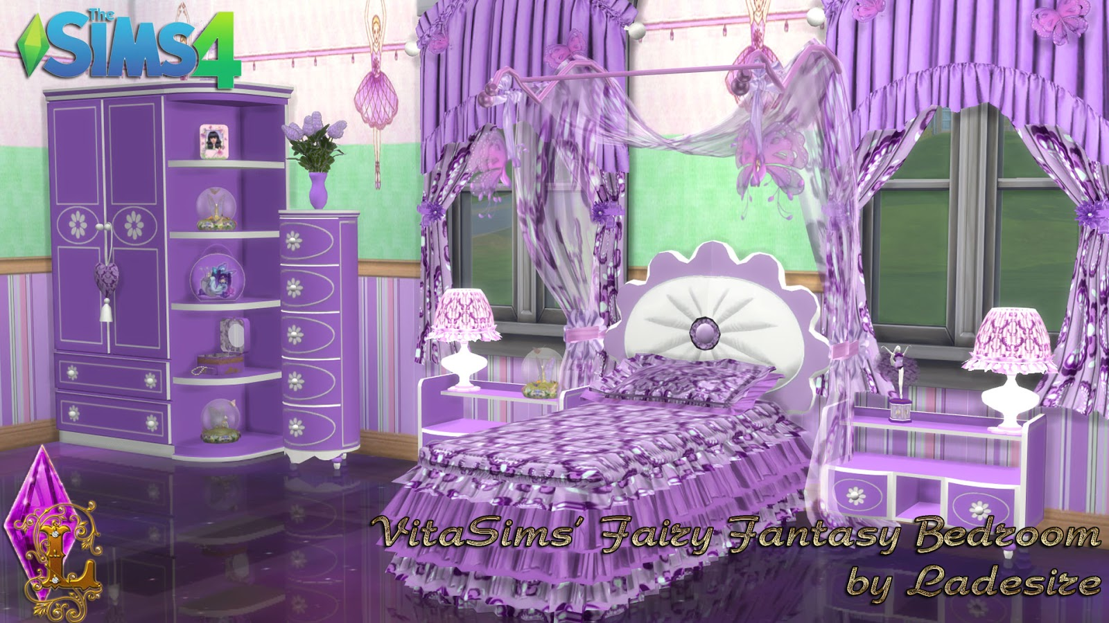 my sims 4 blog ts3 fairy fantasy bedroom by ladesire