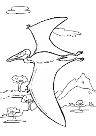 Pterosaurs Coloring Pages For Print Online