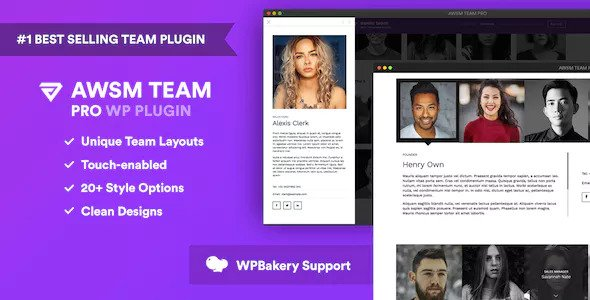 AWSM Team Pro is the most versatile WordPress plugin available to create and manage your Team page.