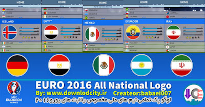 PES 2016 Euro 2016 All National Logo Pack By Downlodcity