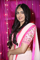 Adaa Sharma in White Pink Saree at Zee Telugu Apsara Awards 2017 35.JPG