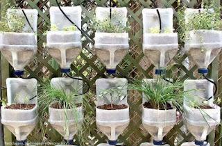 recipientes plasticos reciclados para huertas