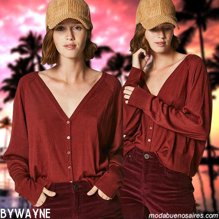 Moda invierno 2019 ropa de mujer. Blusas y sweaters ligeros otoño invierno 2019.