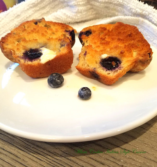 These are grilled blueberry muffins I had first time in Utica, Upstate New York at J.M. Fields.The muffins are toasted and grilled with a rich butter grilling on top