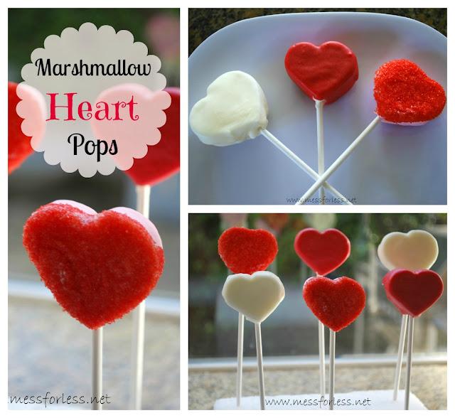 Valentines Recipe, Marshmallow Pops, #Valentines