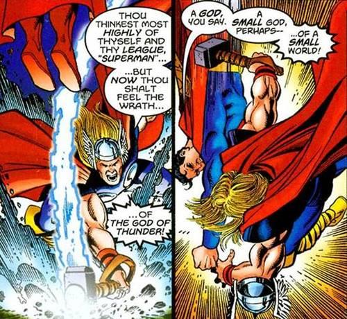 lebih kuat superman atau thor