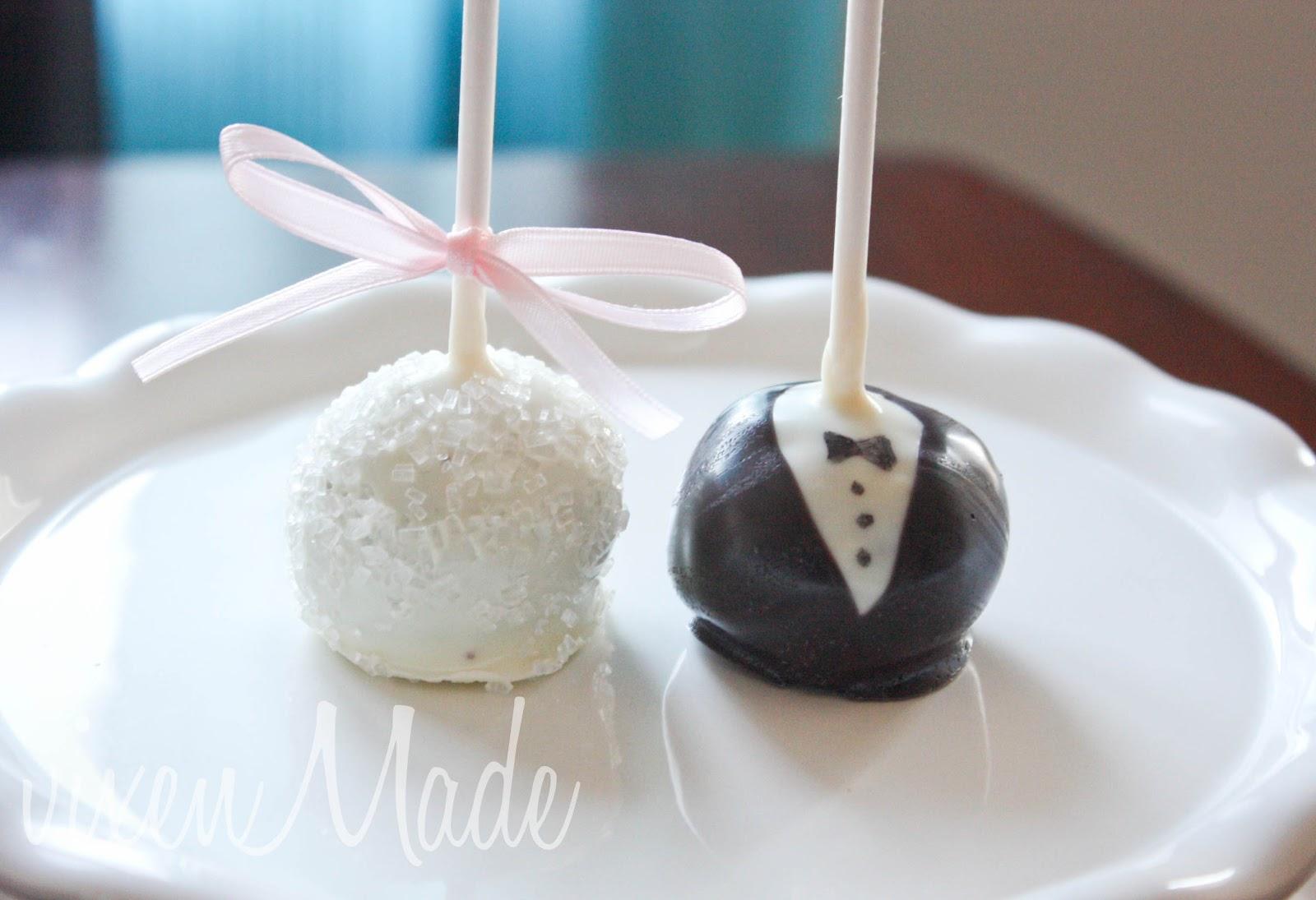 Bride Groom Cake Pops Vixenmade Parties