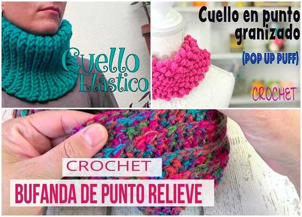 cuellos infinitos crochet, patrones para crochet