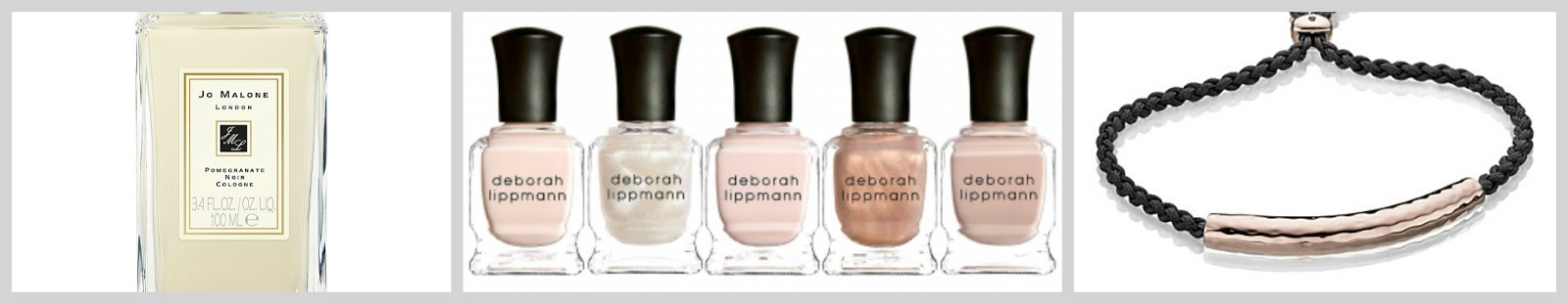 christmas gift guide for her jo malone perfume deborah lippmann nail polish set monica vinader rose gold friendship bracelet