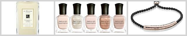 christmas gift guide for her jo malone perfume deborah lippmann nail polish set monica vinader rose gold friendship bracelet