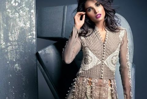 f23b9e7c19 Nida Azwer French Trellis Collection 2015   Nida Azwer Luxury Pret 2015    She-Styles   Pakistani Designer Dresses - Fashion Weeks - Lawn Collection