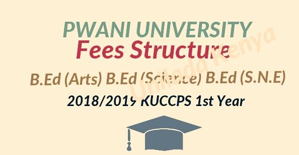 B.Ed fees structure Pwani university 2018/2019
