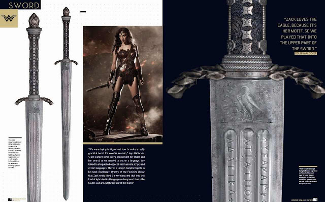 La espada de Wonder Woman en Batman v Superman