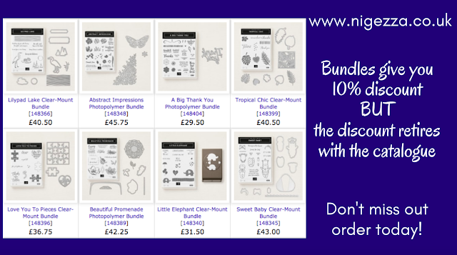 Stampin' Up! Bundles save 10% off separate price