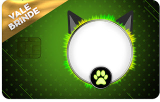 Tarjeta con forma de Visa de Cat Noir.