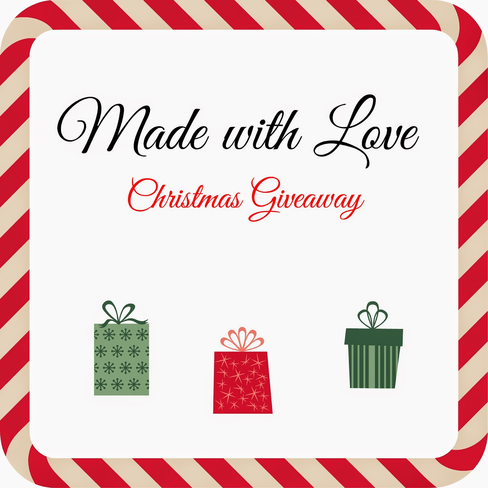 Christmas giveaway Made with love