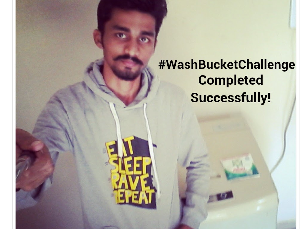 Ariel #SharetheLoad #WashBucketChallenge selfie