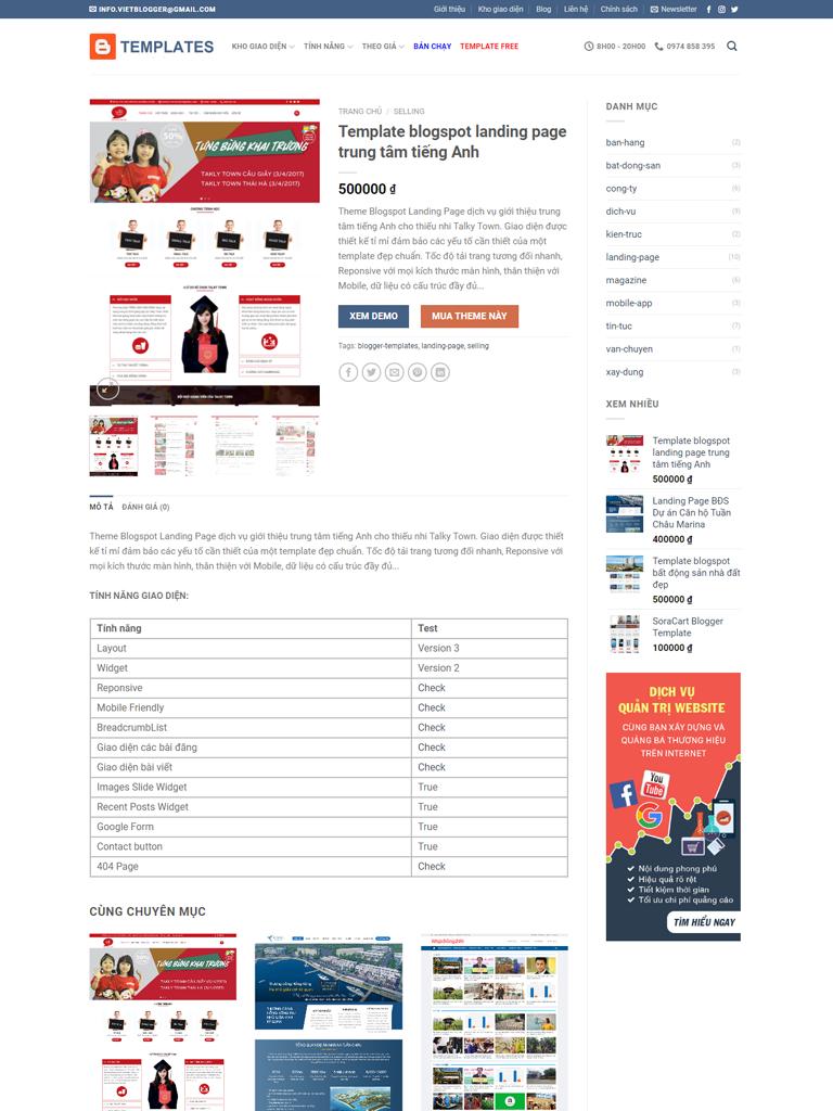 Flatsome Blogger Template bán theme chuẩn Seo 2 - Ảnh 2