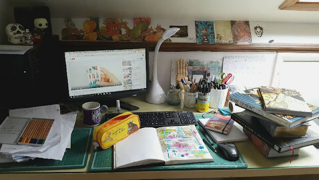 The Art of Carmen Wing - A look at what's on my work desk