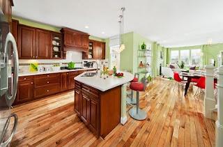 cocina moderna color pistacho