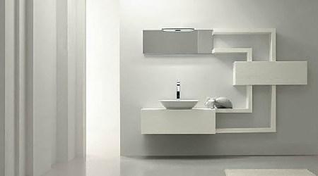 Gam màu trắng và xám cho phòng tắm
