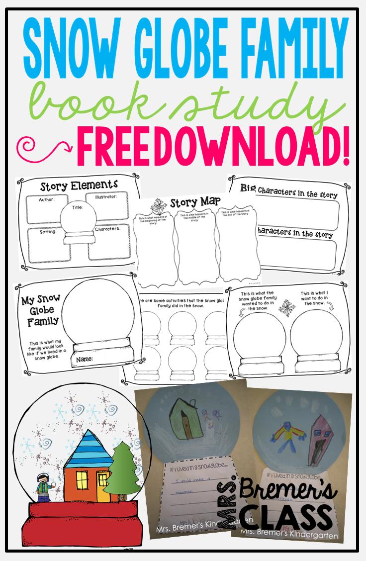 mrs bremer u0027s class the snow globe family freebie pack