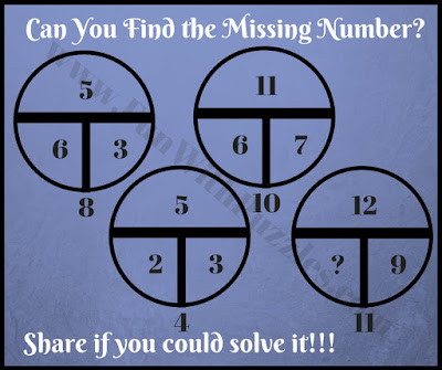 Quick math circle brain teaser