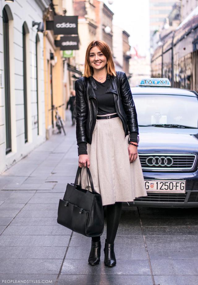 Mirjam Škalic, Mirjam Zara Ilica voditeljica prodaje u Zari Ilica, kako nositi suknju i gležnjače