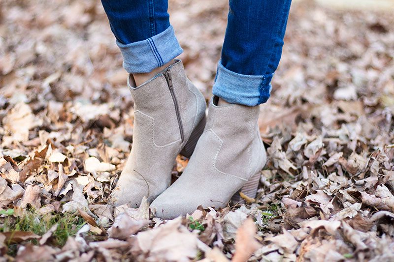 Aldo Taupe Suede Booties