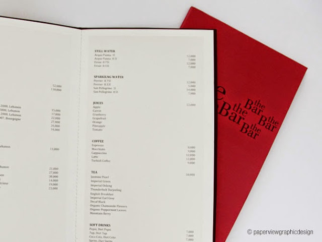 This is how you design a menu for the Lebanese & Middle Eastern market - The Bar - Four Seasons by Paperview Design