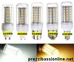 Lampadine led smd prezzi migliori guida alla scelta for Dove comprare lampadine led online