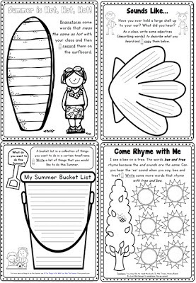Beach/Ocean Animal Writing Activities and Prompts Plus a