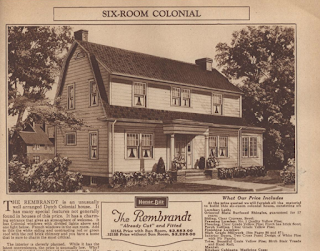 b & w image of Sears Rembrandt in Sears Modern Homes catalog