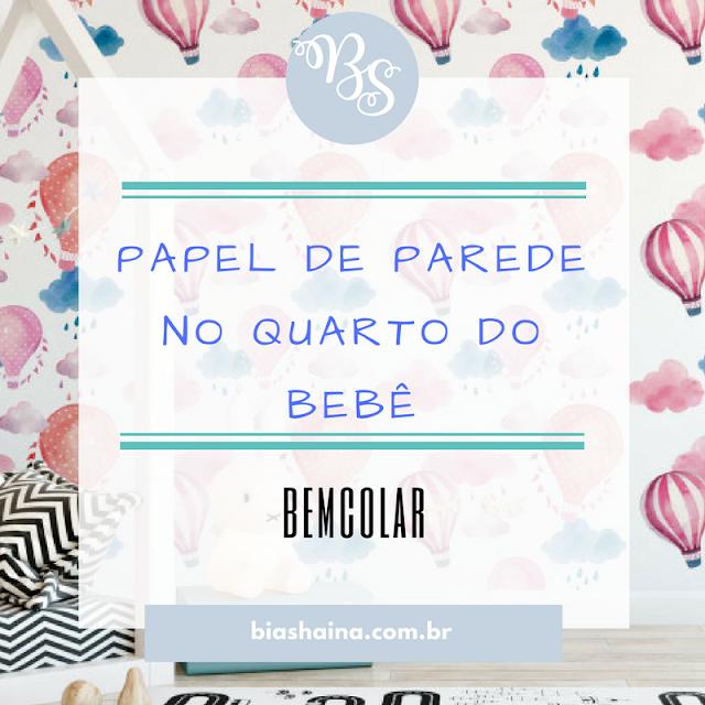 Inspirações de Papel de Parede no Quarto do Bebê,papel de parede, bemcolar, papel de parede para quarto de bebê, adesivo de parede, decoração quarto de bebê