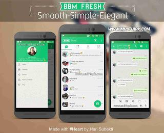 BBM Mod Fresh Green full fitur v2.9.0.51 Apk