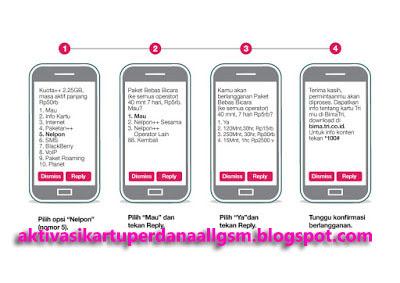 Cara Daftar Paket Nelpon Murah 3 Tri Ke Semua Operator Telkomsel Simpati As Indosat Xl Axis Aktivasi Kartu Perdana Gsm