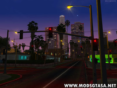 Mod Postes, Luzes e Semáforos do GTA V for GTA SA