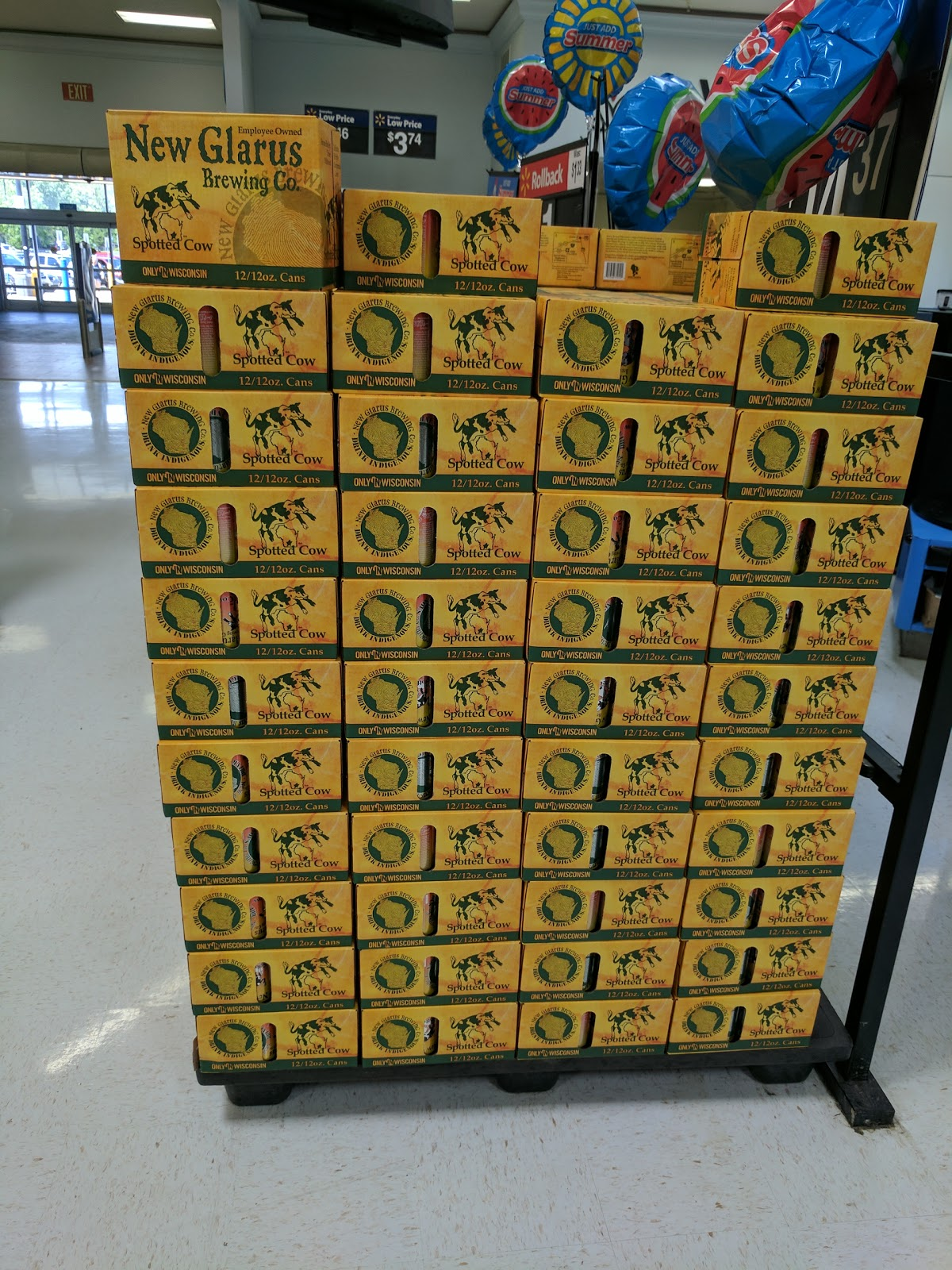Spotted Cow Cans Spotted At Walmart