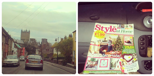 Driving through Wells - Style at Home magazine Christmas issue