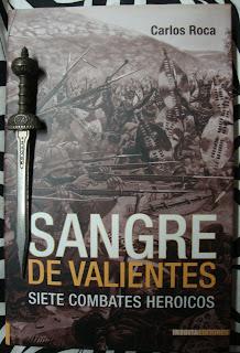 Portada del libro Sangre de valientes, de Carlos Roca