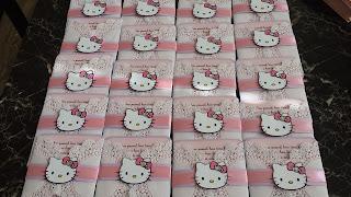 handmade invitations, hello kitty party, doily invitations