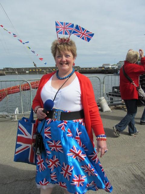 Feestelijk uitgedost voor feest in Wick, Schotland