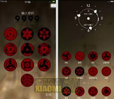 Kumpulan Tema Naruto For Xiaomi MIUI Mtz Update