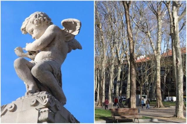 Arboleda junto a la Ria en el Casco Viejo de Bilbao