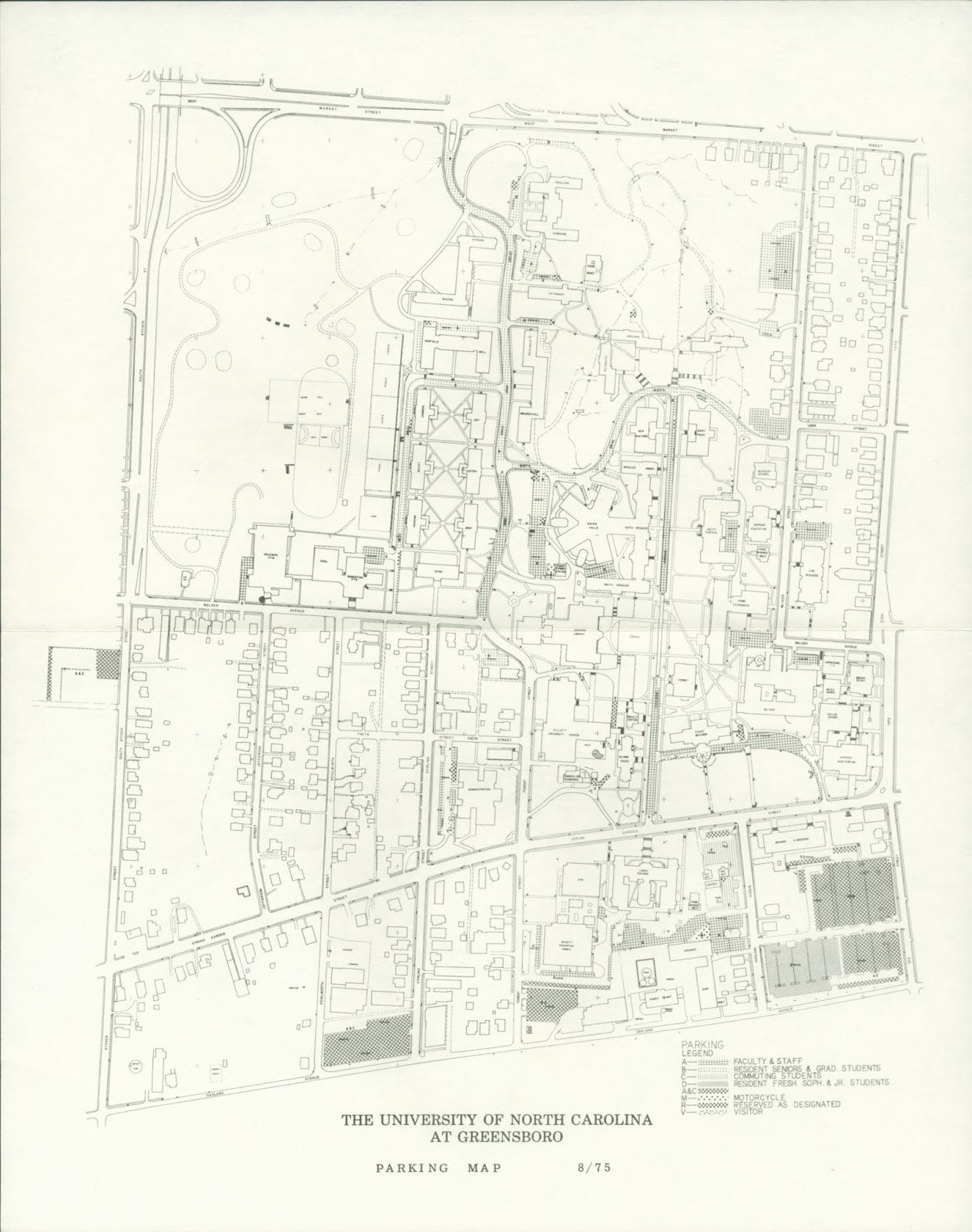 Unc Greensboro Campus Map.Spartan Stories Campus Maps Part Ii
