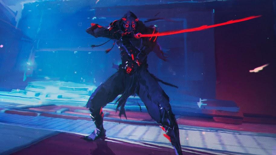 Demon Genji Overwatch 4k Wallpaper 220